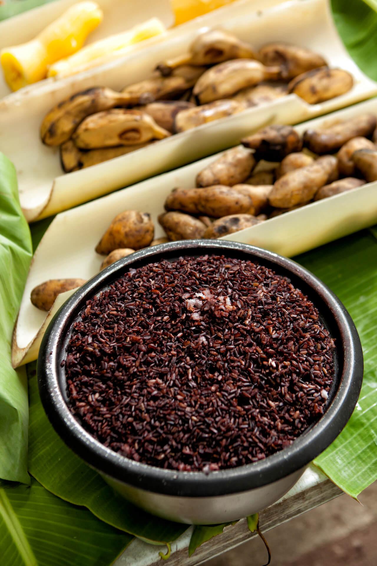 Black rice from Boyet Uychiat's farm