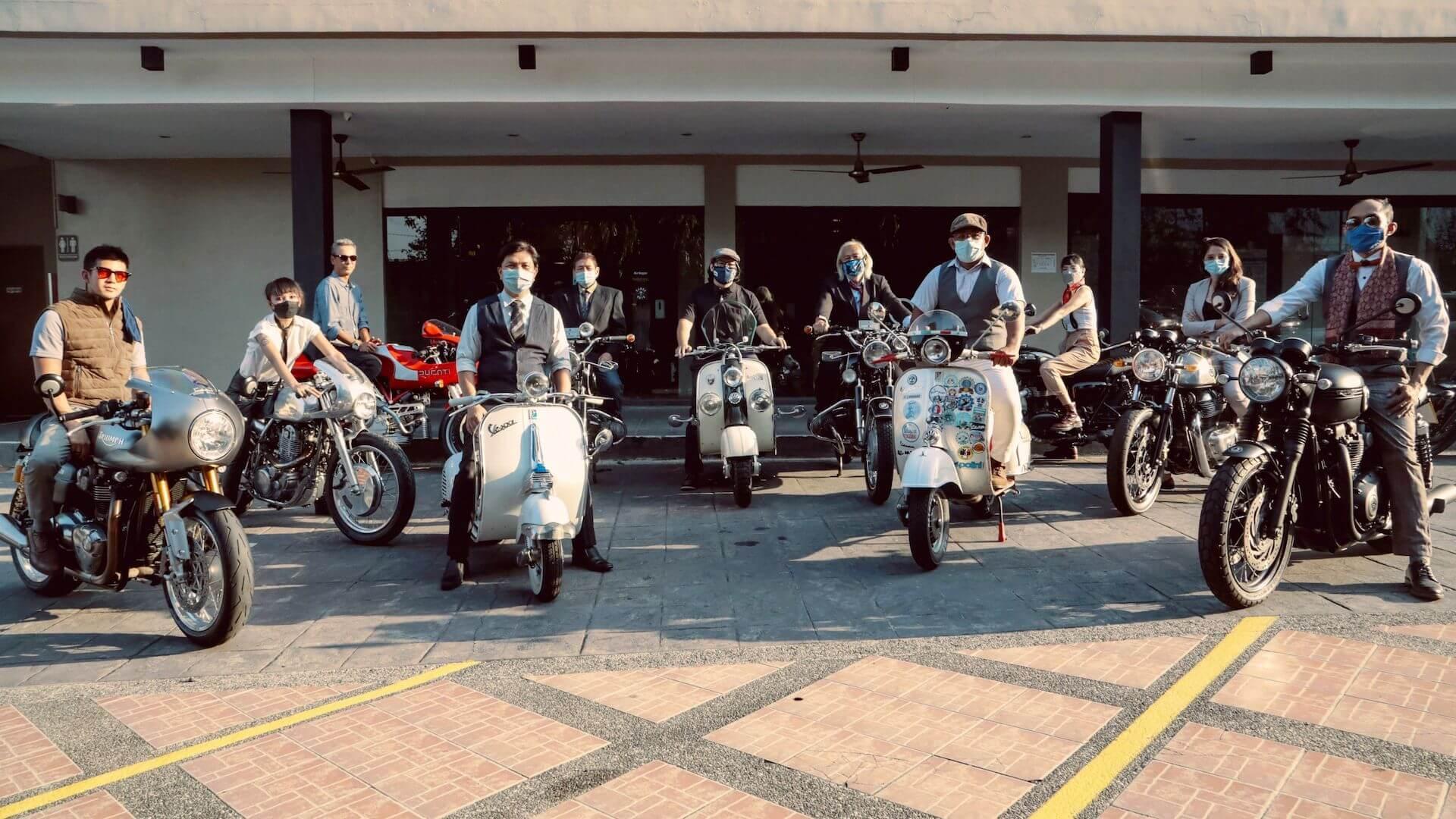 Participants during the DGR 2021 test ride