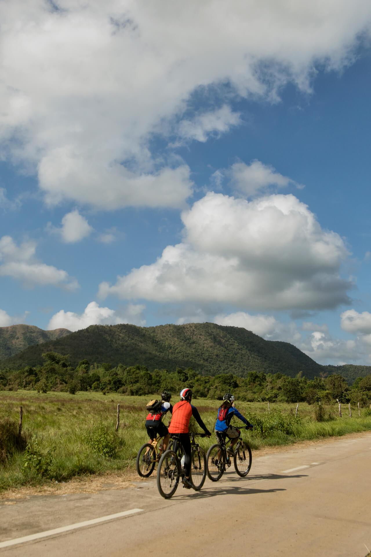 Three bikers en-route to Calauit