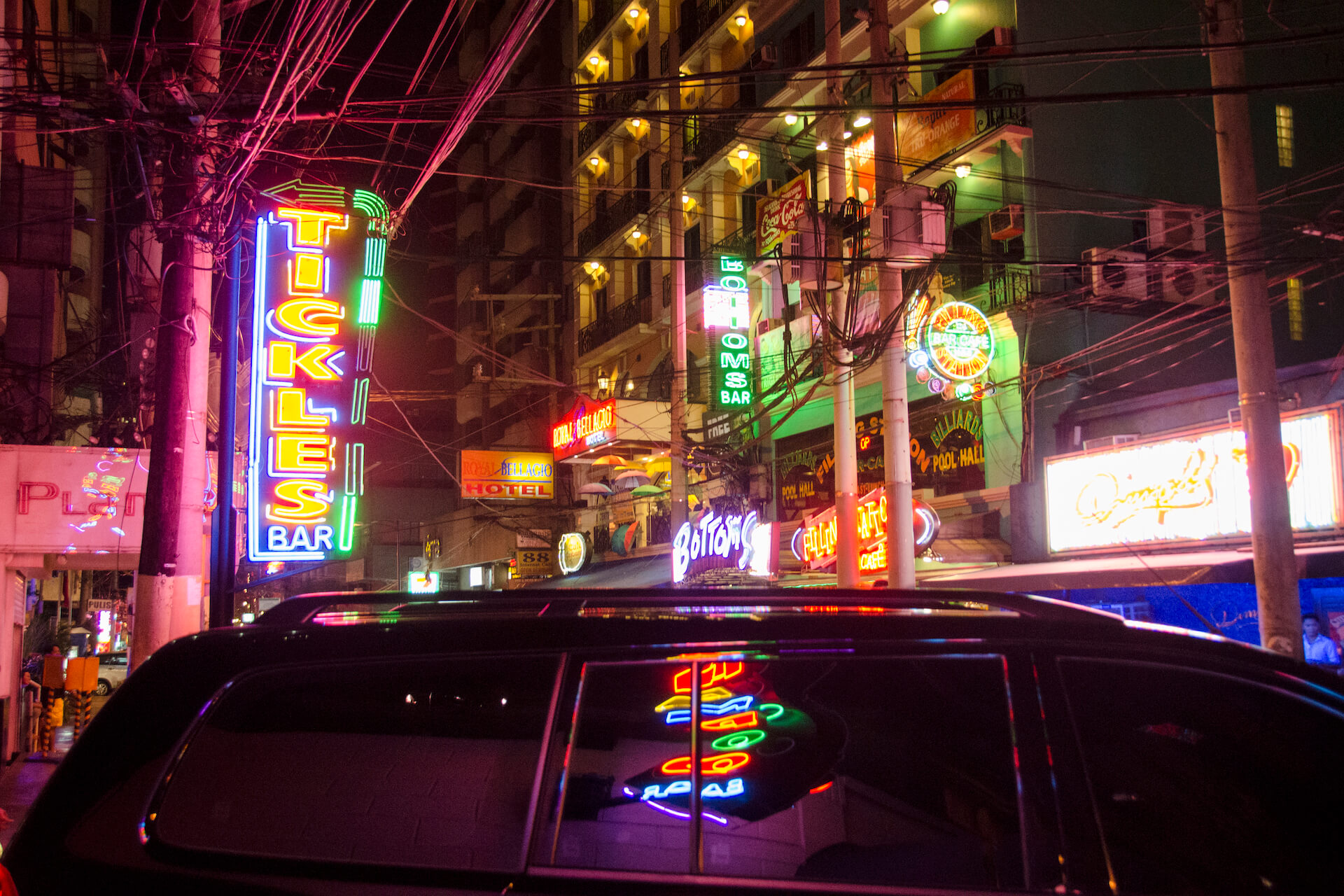 Poblacion, Makati on a night out. Photo taken pre-pandemic.