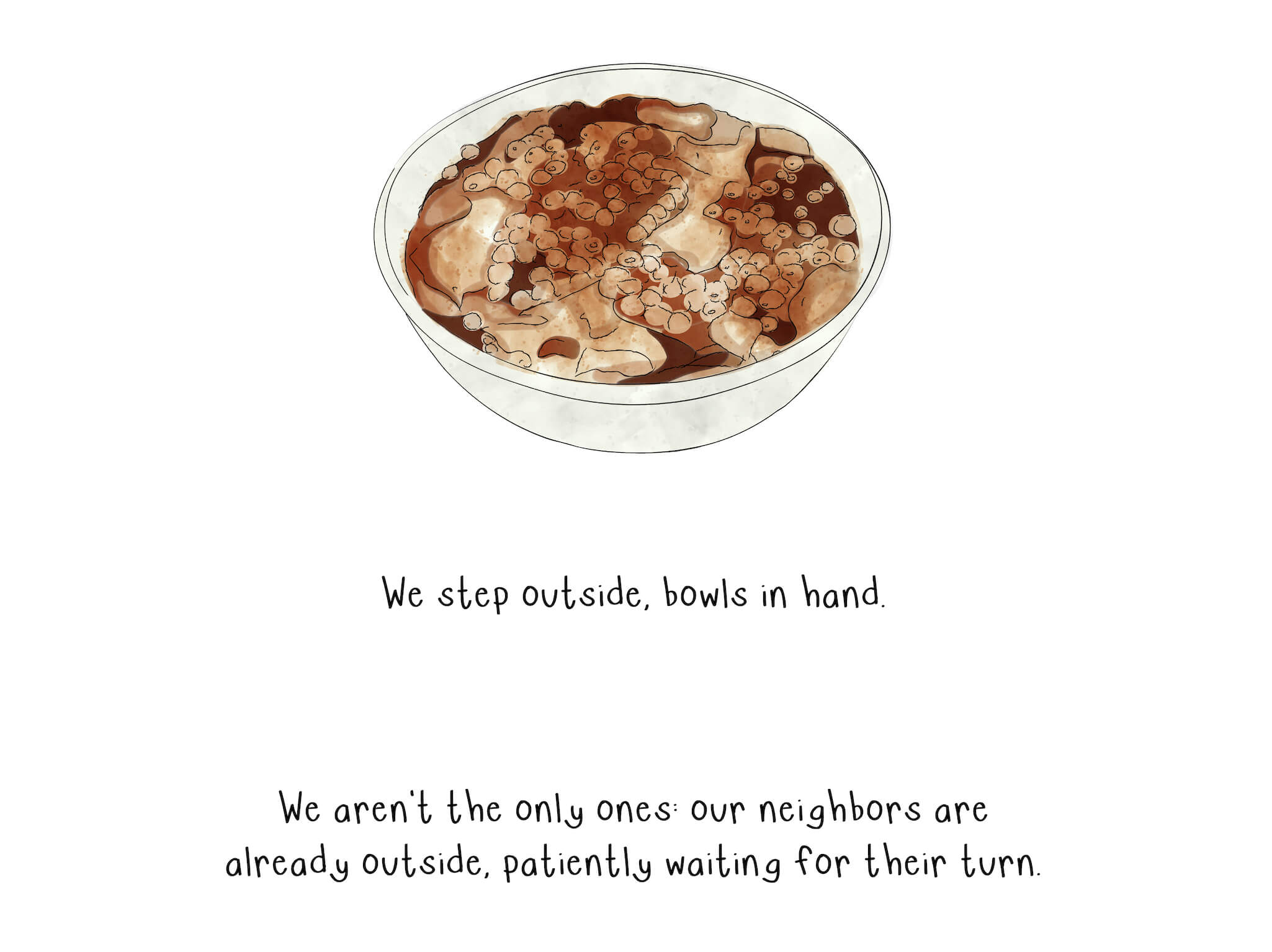 A bowl of taho, a staple for their neighborhood