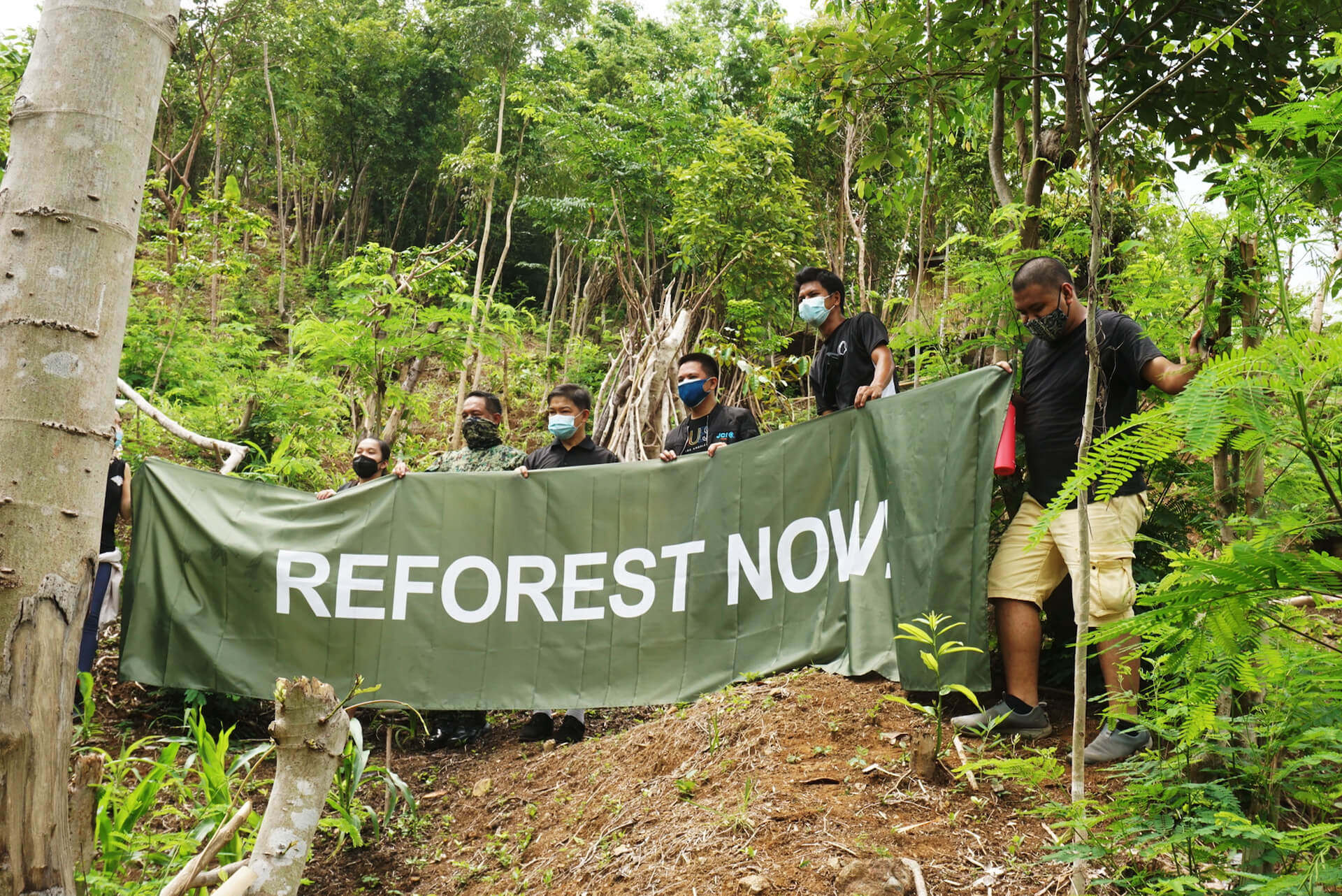 At Masungi Georeserve, local officials joined park rangers' call against deforestation