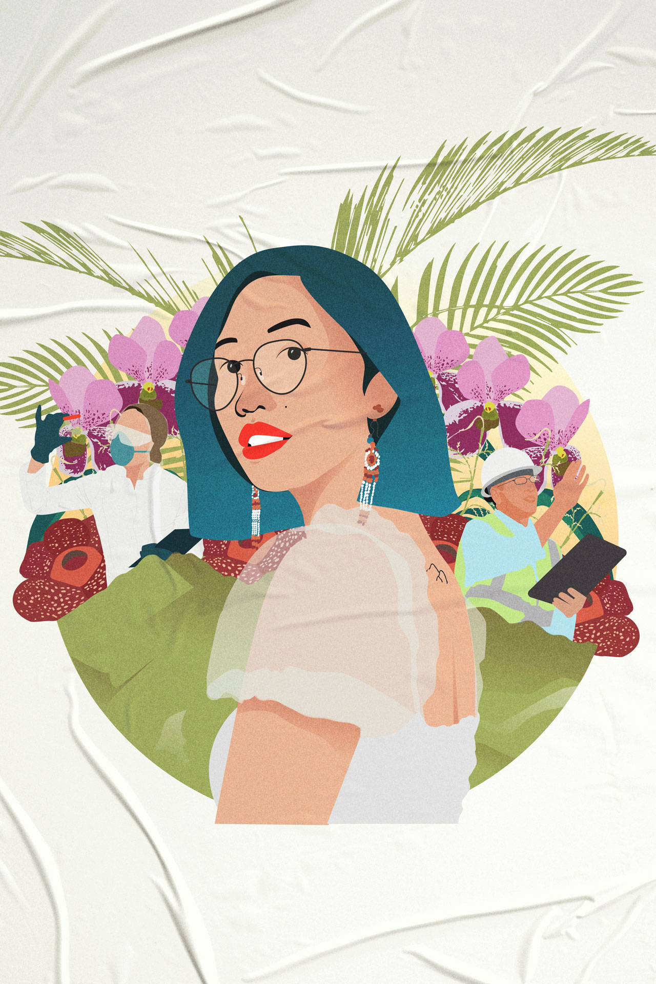 Mitzi Jonelle TanLead Convener, Youth Advocates for Climate Action Philippines, illustration by Isabela Ferrer