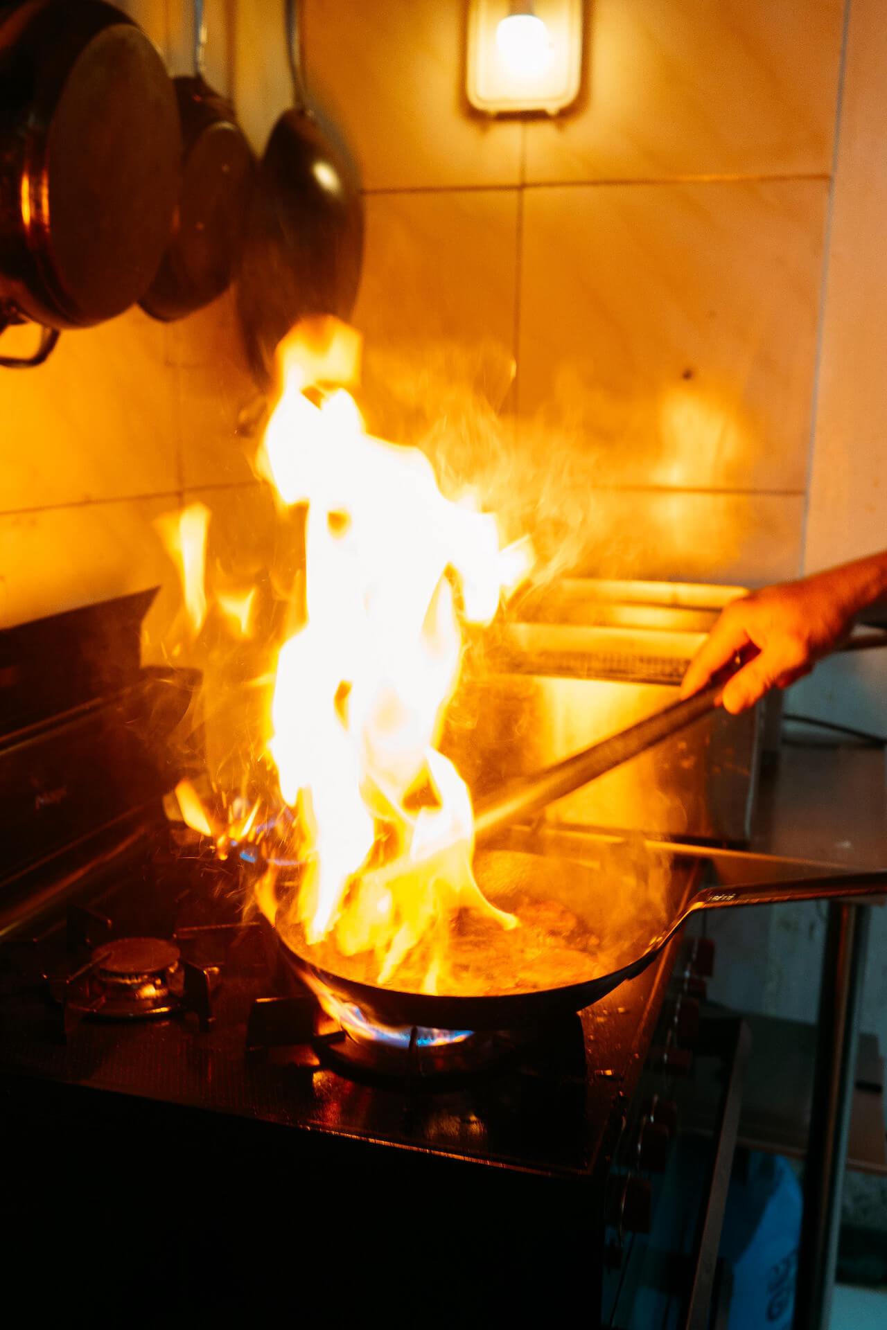 The Village Cafe Parañaque wok fire