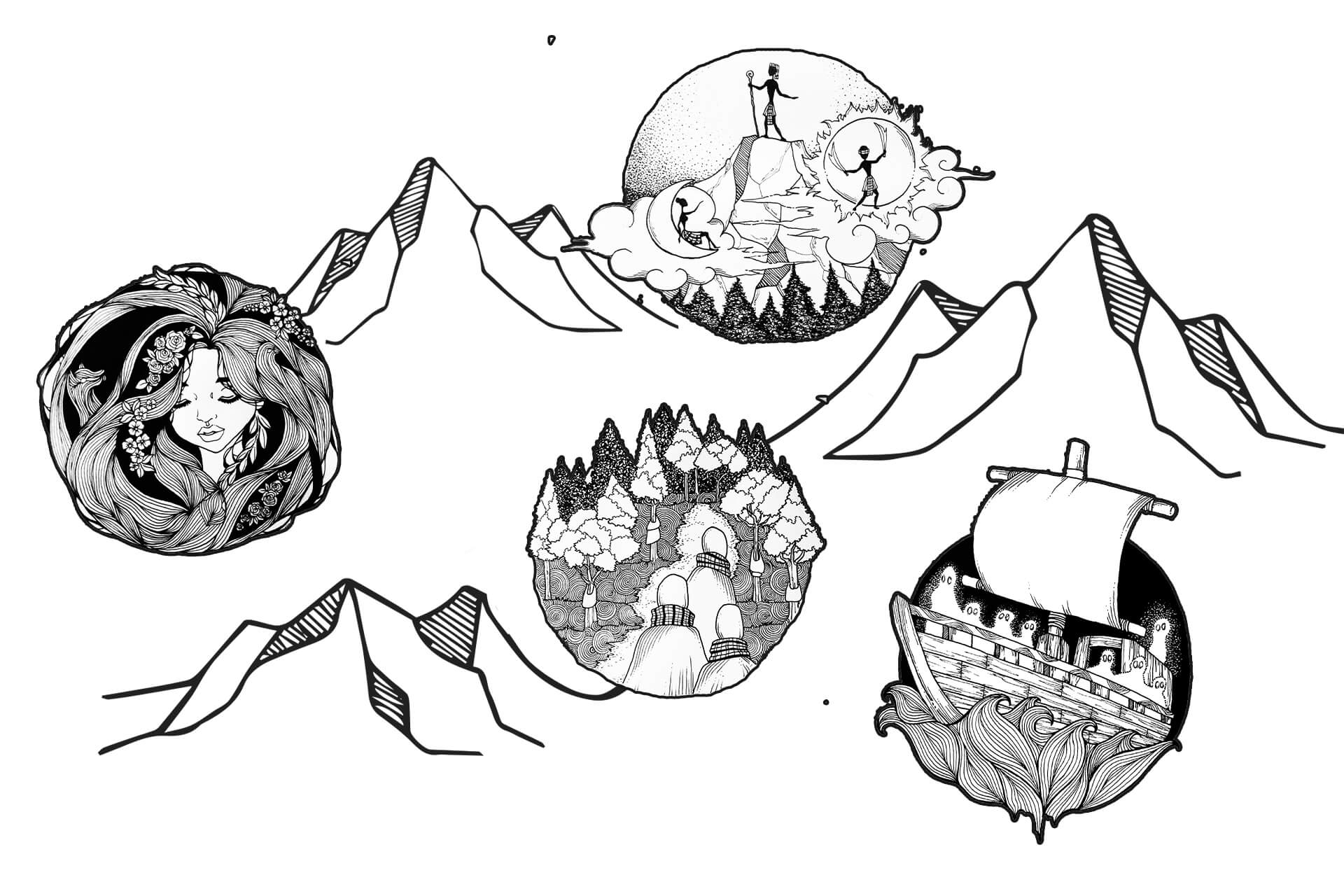 A map to guide you across the country's supernatural peaks.