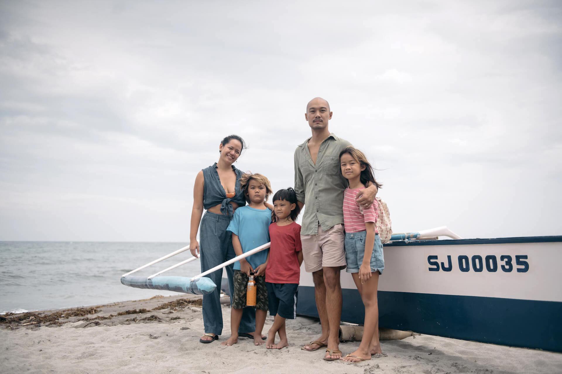Kiddo and Amy Cosio and family in La Union beach. Photo by Tarish Zamora