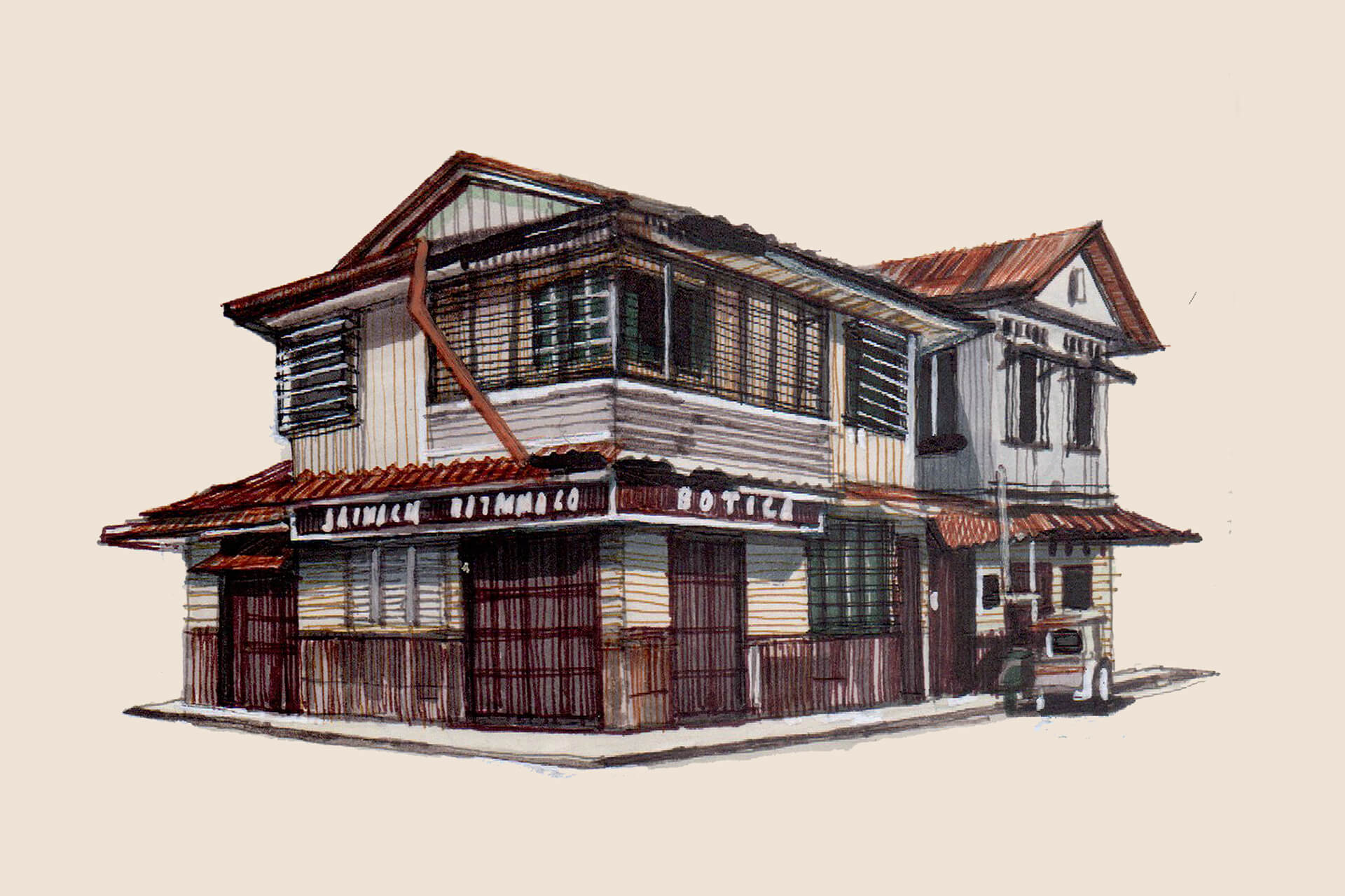 On the eastern side of Oriental Mindoro sits Pola: a small, coastal town full of ancestral homes. Illustration by Rom Cahilo.