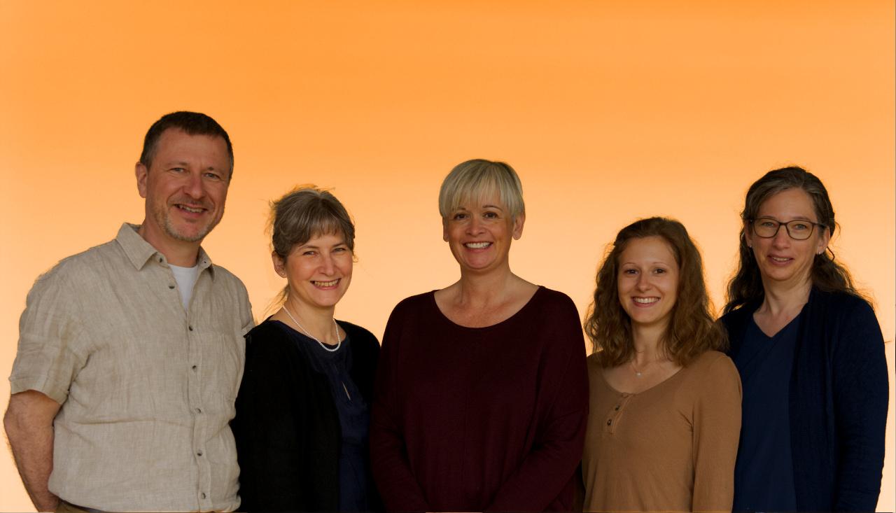 Foto vom Sela Team mit Michel, Sibylle , Petra , Fiona und Jolanda