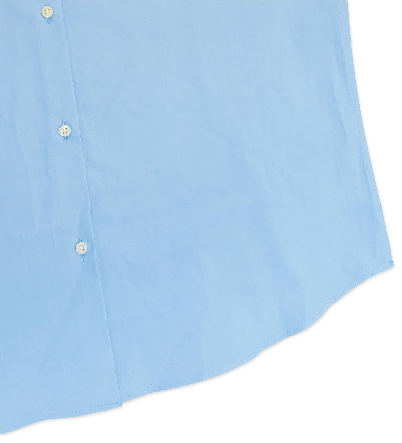 Light blue shirt with Zliide intelligent self-checkout tag attached to it