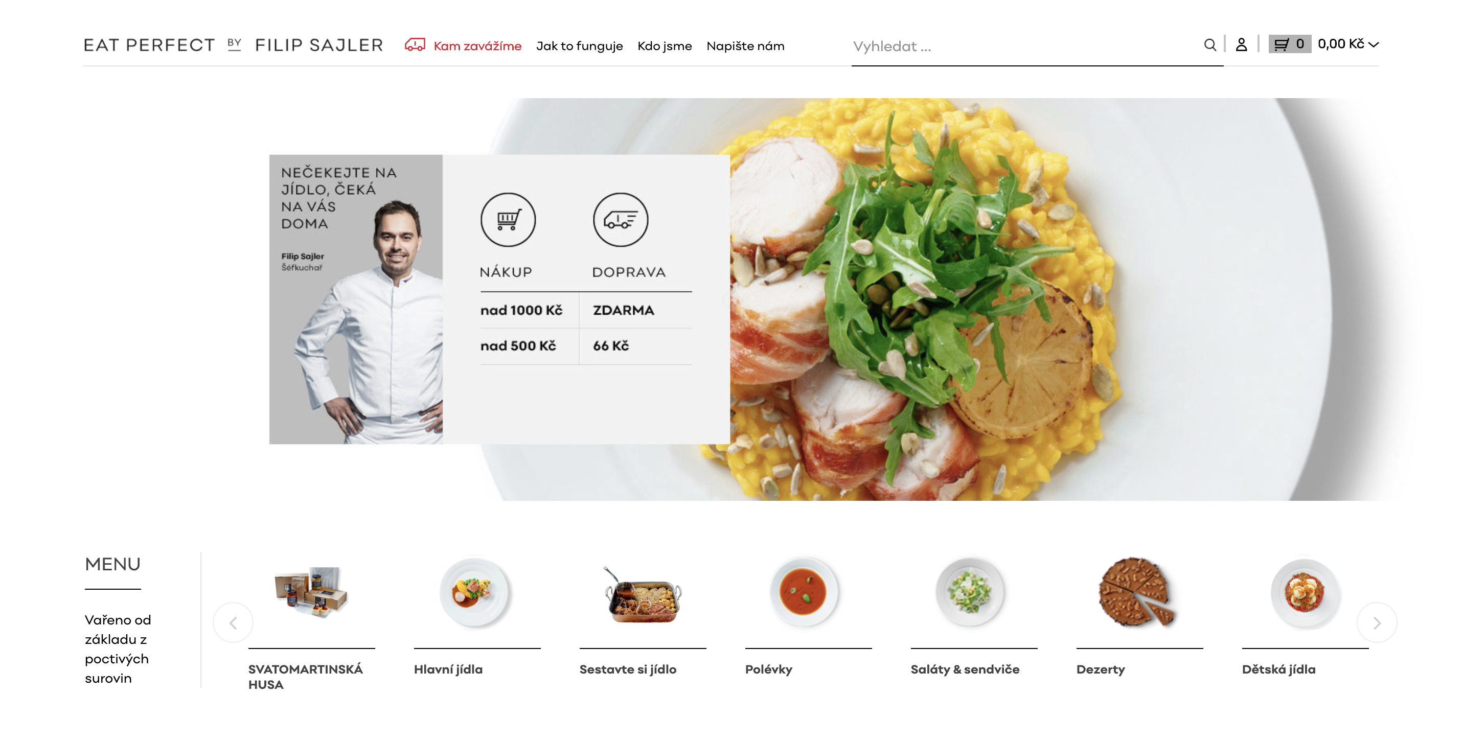 E-shop s pokrmy (Nopcommerce)