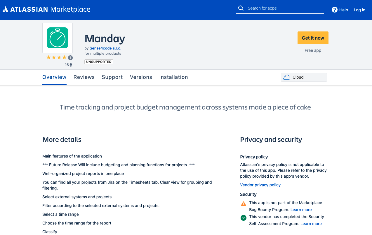Manday.io plugin pro JIRA Atlassian