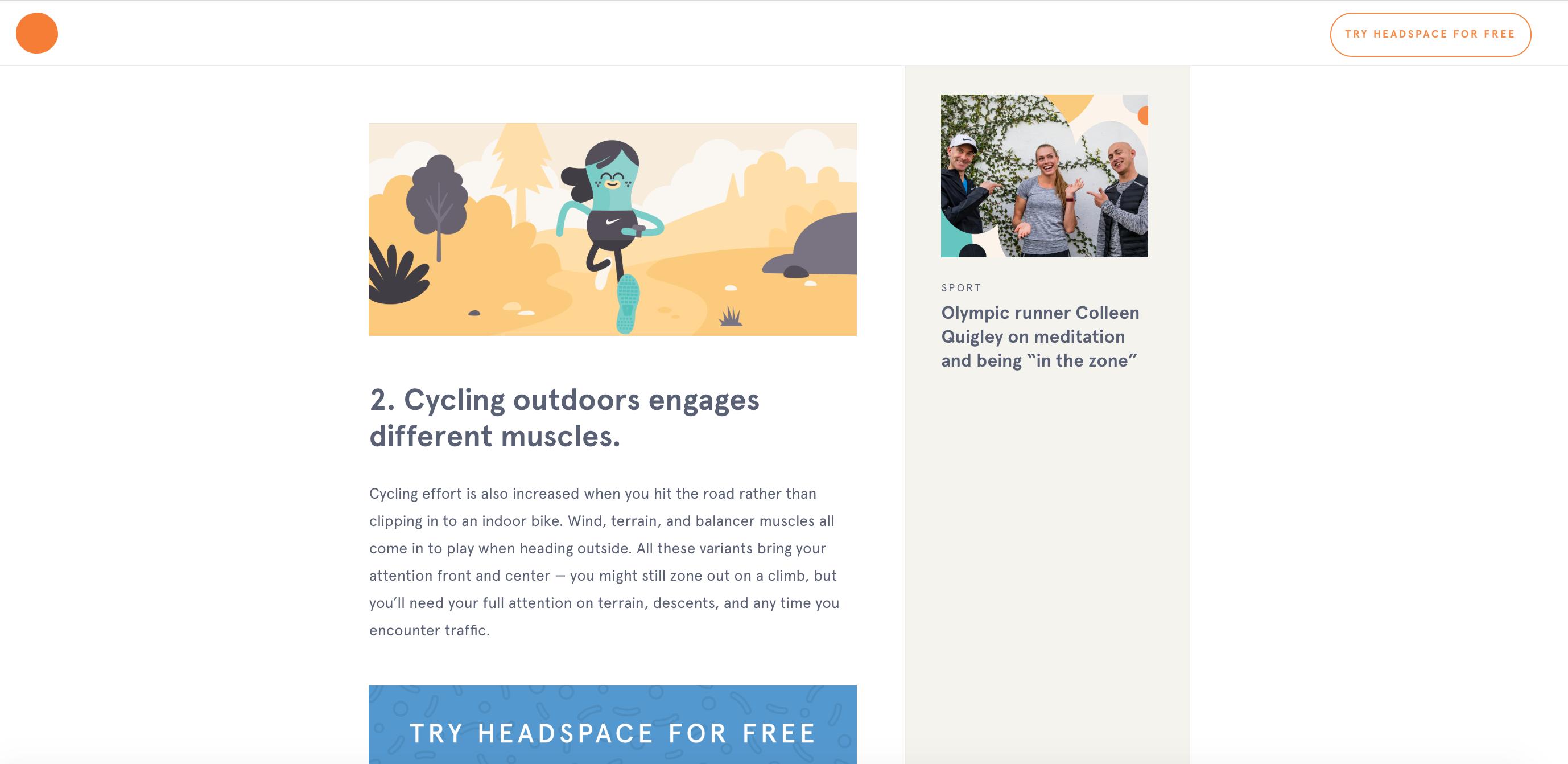 Stratégie d'engagement Headspace