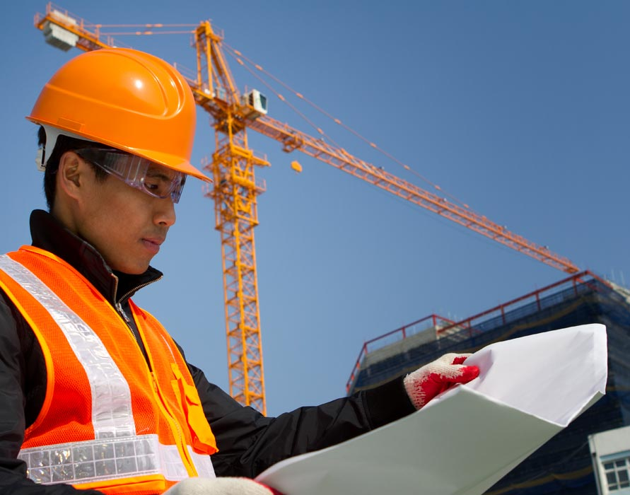 contractor reviewing specifications
