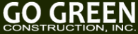 go green construction logo