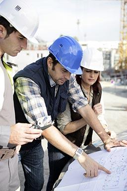 general contractors reviewing bid