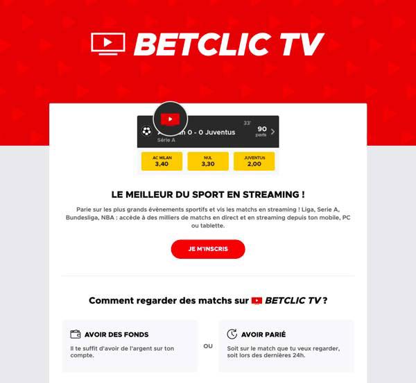 Betclic TV, service de streaming pour paris sportifs - Follow Win Betting