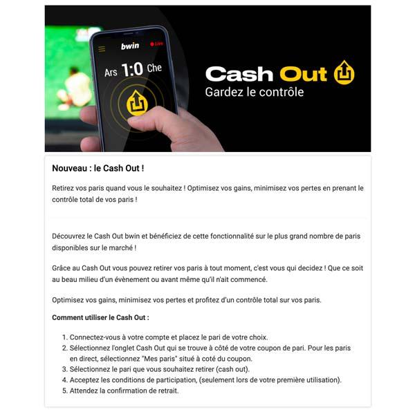 Illustration Cashout Bwin - Follow Win Betting
