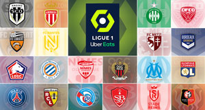 Clubs de Ligue 1 Française de Football - Saison 2020-2021