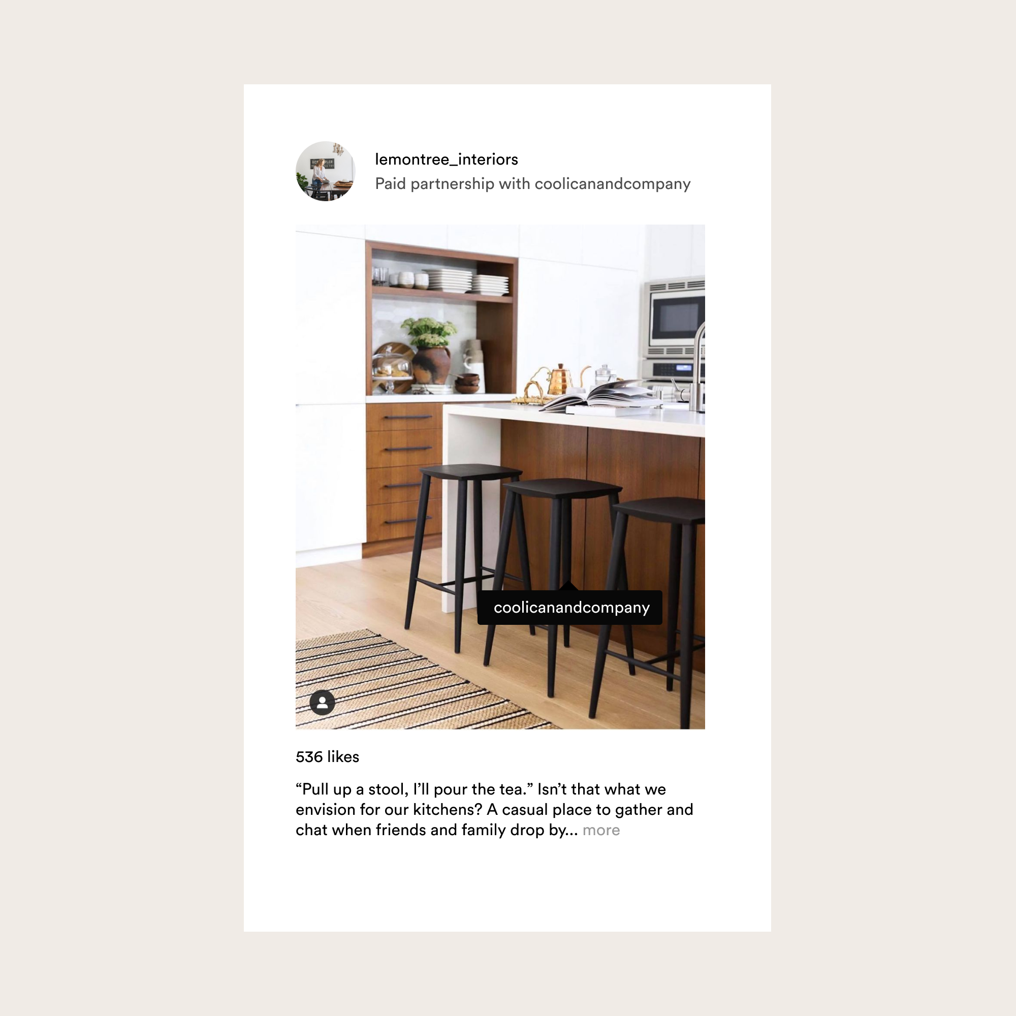 Instagram content created by brand ambassador