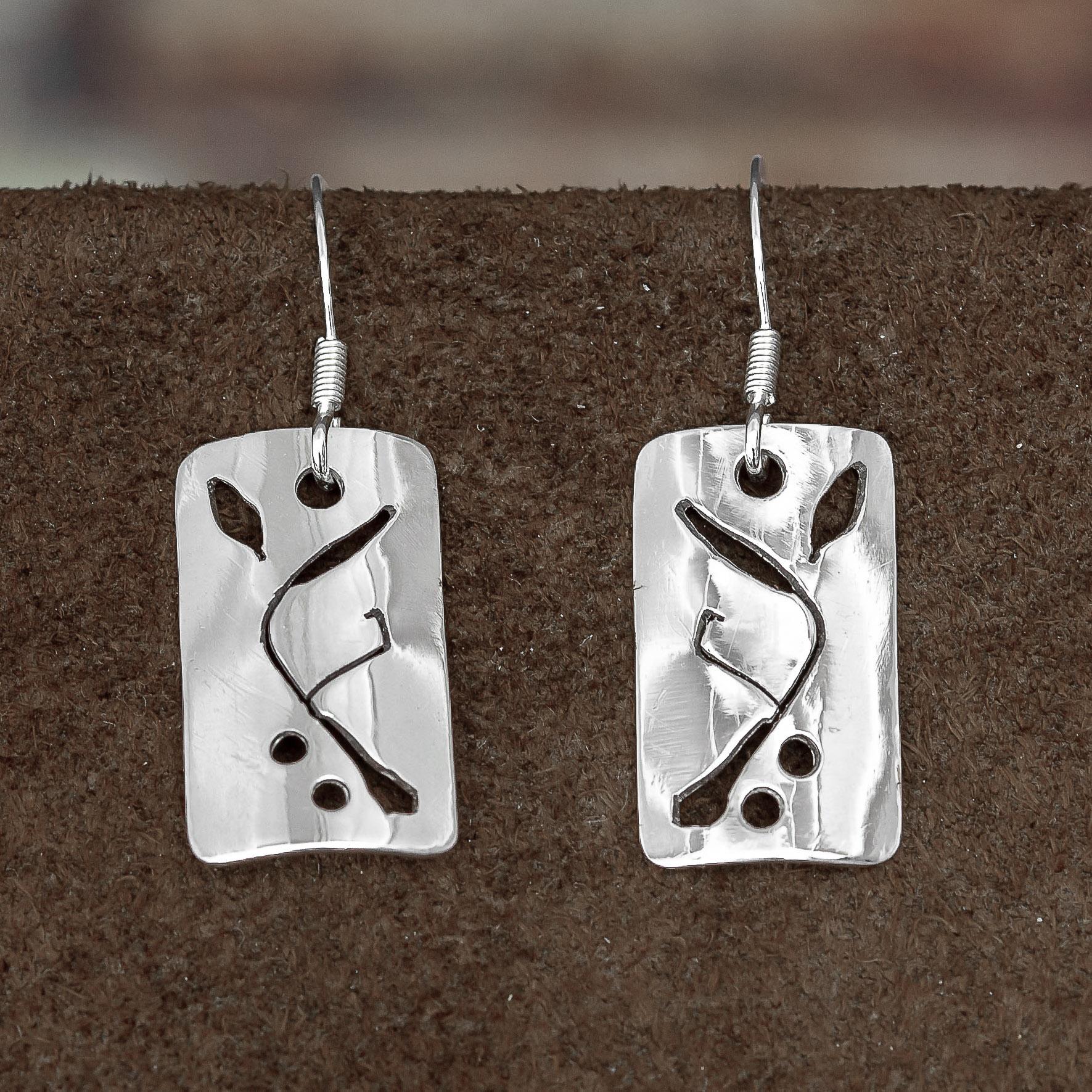 Sea Buckthorn 1 earrings