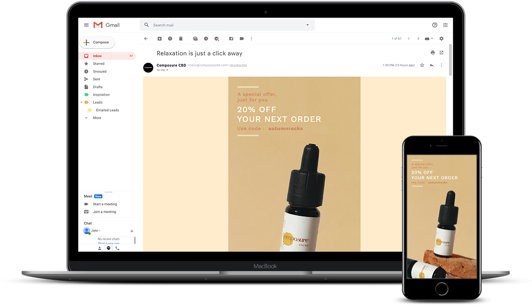 We build beautiful, results driven emails for your ecommerce business