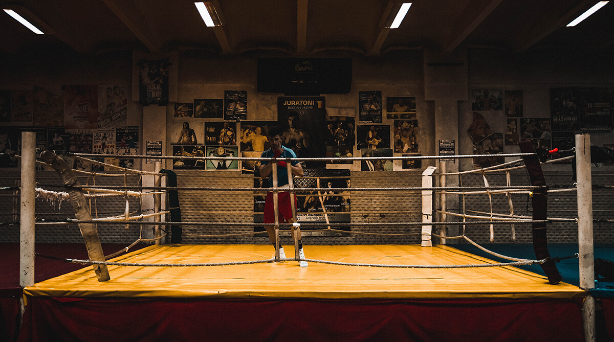 traditional boxing gym