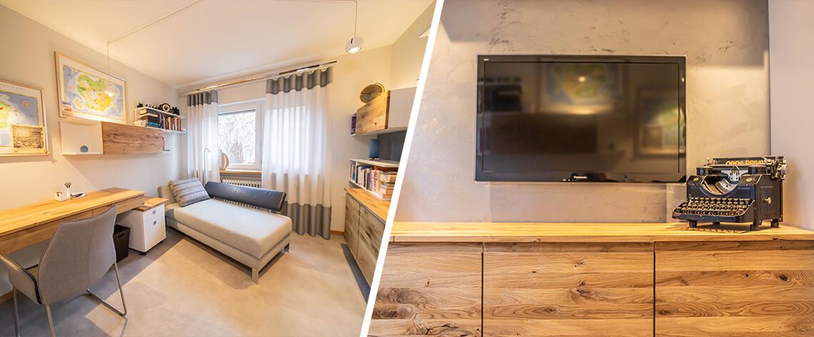 Büroeinrichtung kleiner Raum | Raumausstatter | Möbelmanufaktur | Speyer