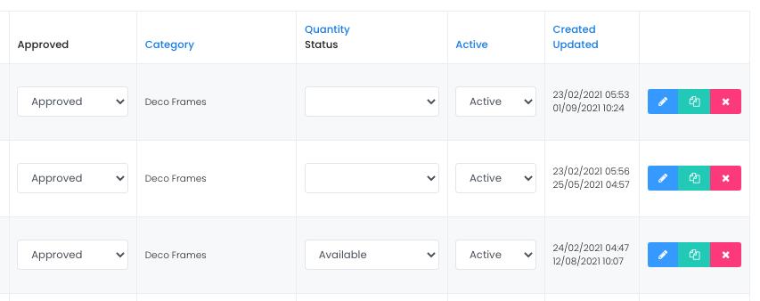 product updated screenshot