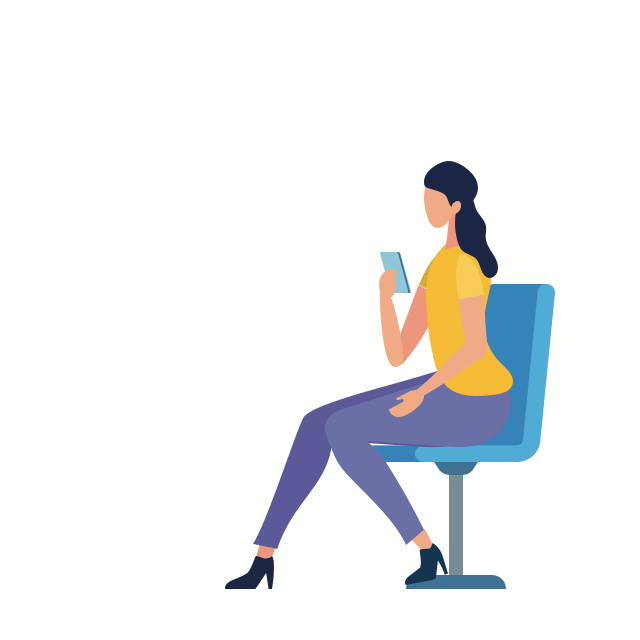 Women chatting with mobile career coach.