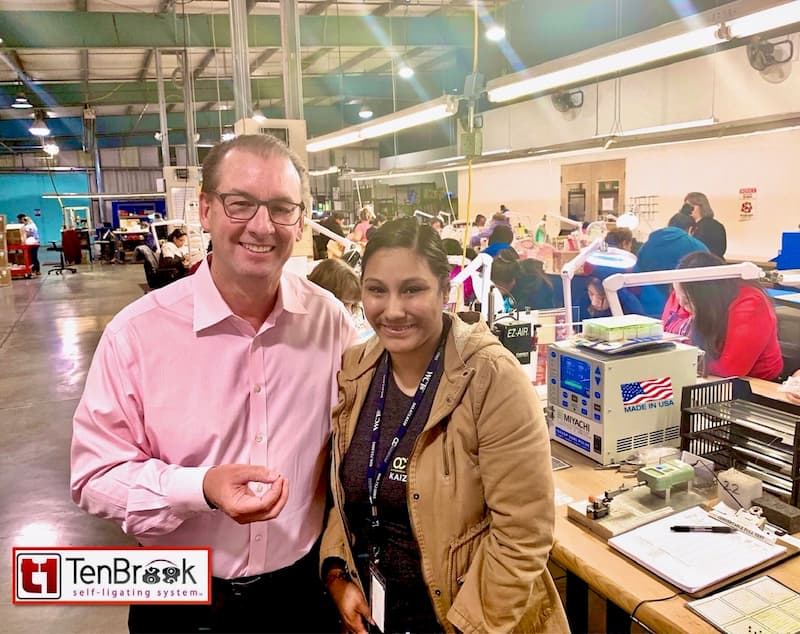 Dr. TenBrook Visiting our T1 Brackets Manufacturer