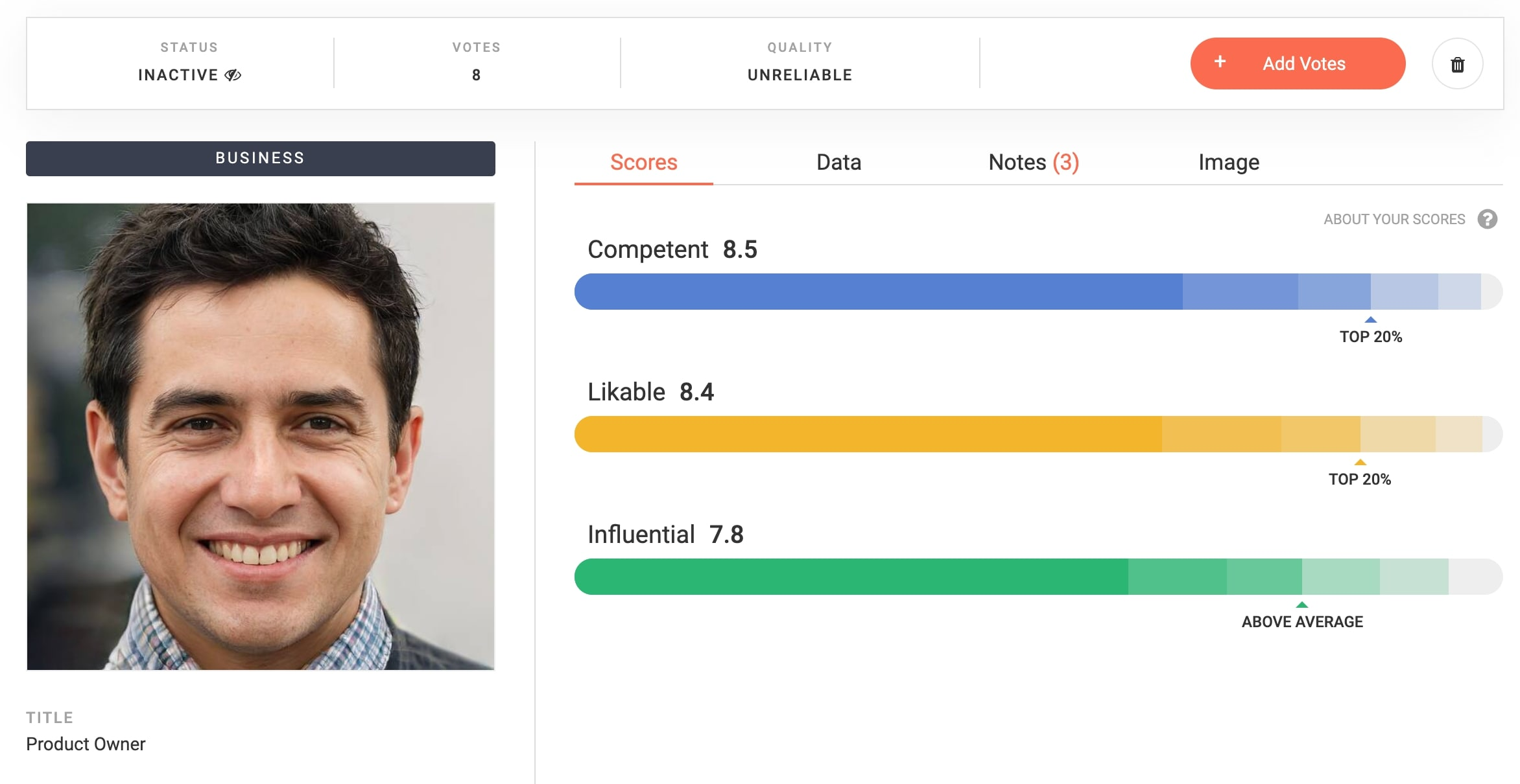 LinkedIn profile image optimization with a 3th party tool