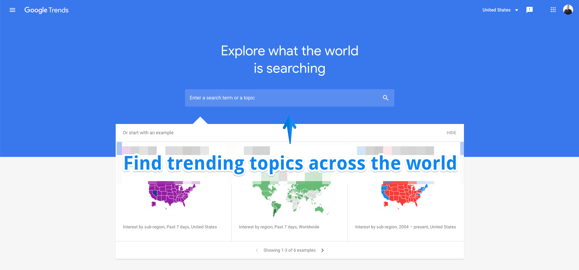 use google trends to find new hashtag ideas