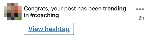 Message of post trending on LinkedIn