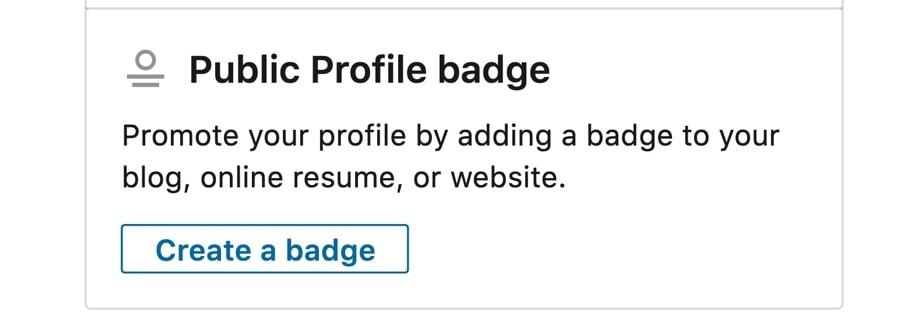 How to create a LinkedIn Profile Badge