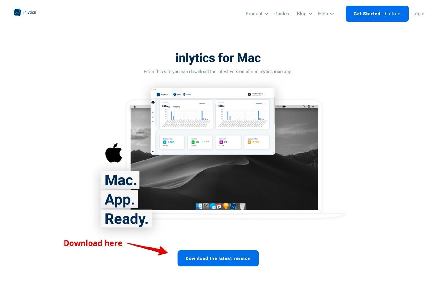 download the inlytics mac app