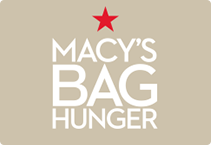 Macy's hunger bag graphic