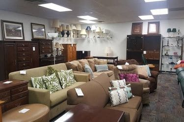 furniture department of a thrift store