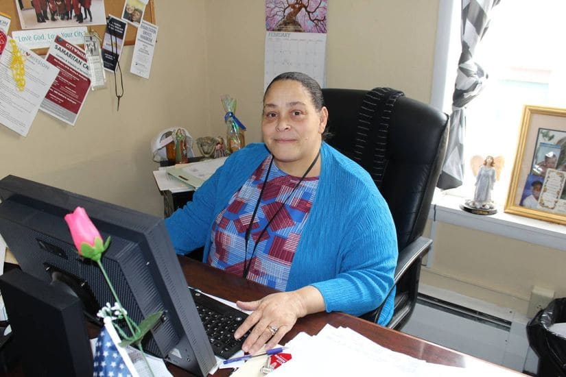 nettie in her office at her job at City Mission