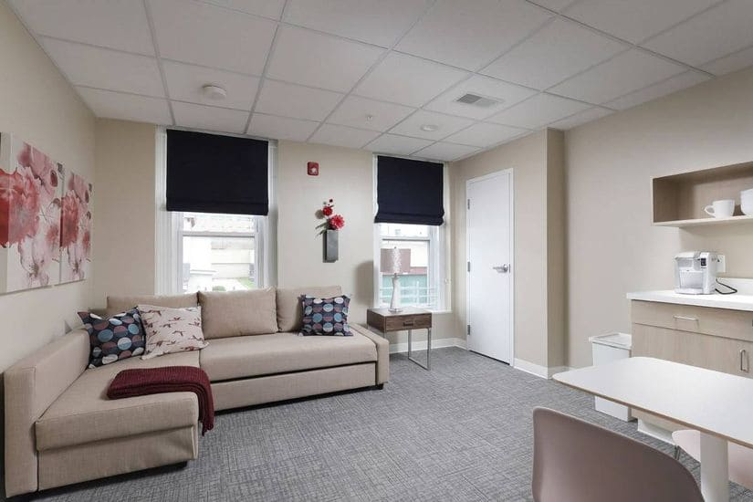 inside view of new women with children's shelter