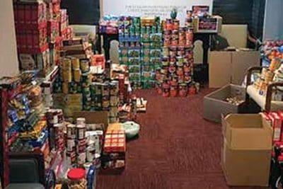 Samaritan Care food stockpile.