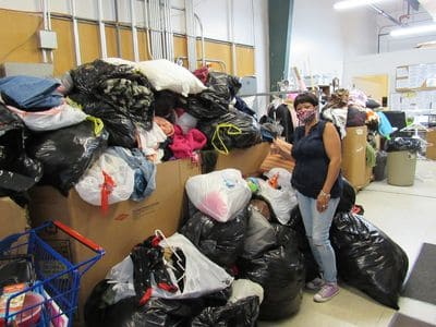 accumulation of donated goods at the Belle Vernon Thrift Store
