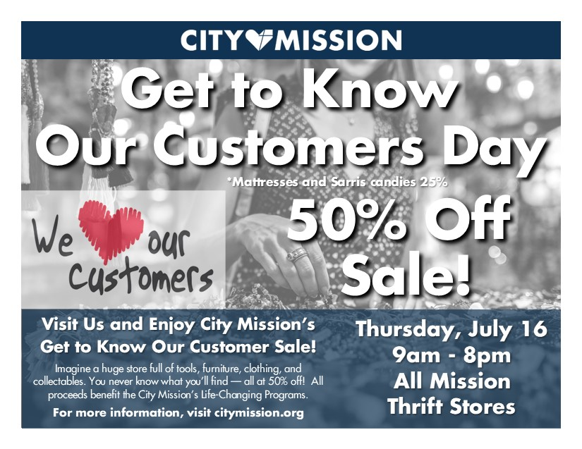 Get to Know Your Customer Day flyer
