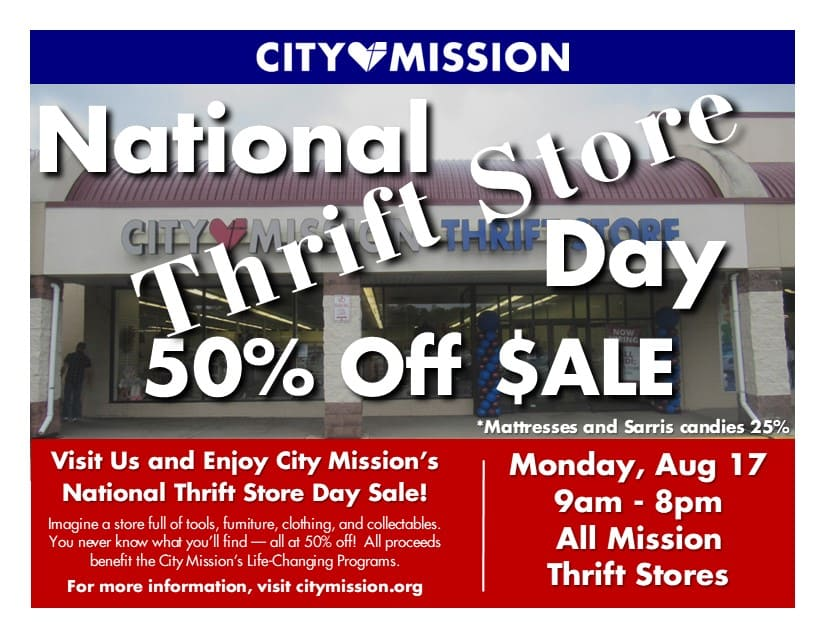 National Thrift Store Day Poster for 17 August 2020