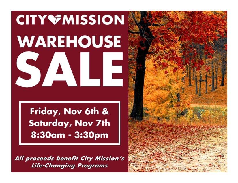 fall warehouse flyer