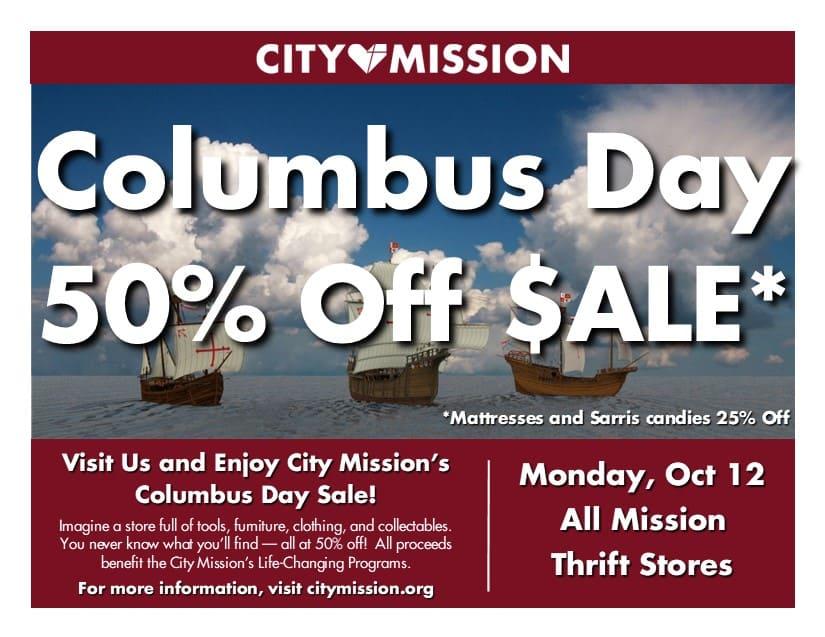 Columbus Day Sales flyer