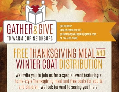 Gather and Give flyer