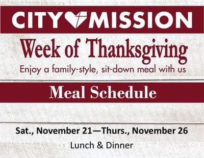 Week of Thanksgiving Meals flyer