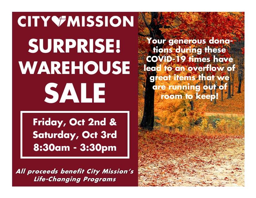 October surprise Warehouse Sale