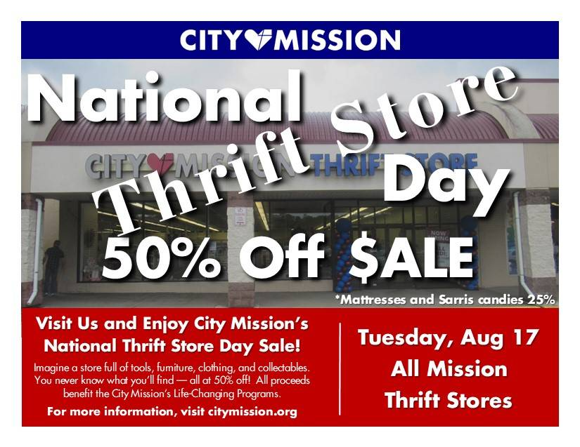 National Thrift Store Day Poster for 17 August 2021