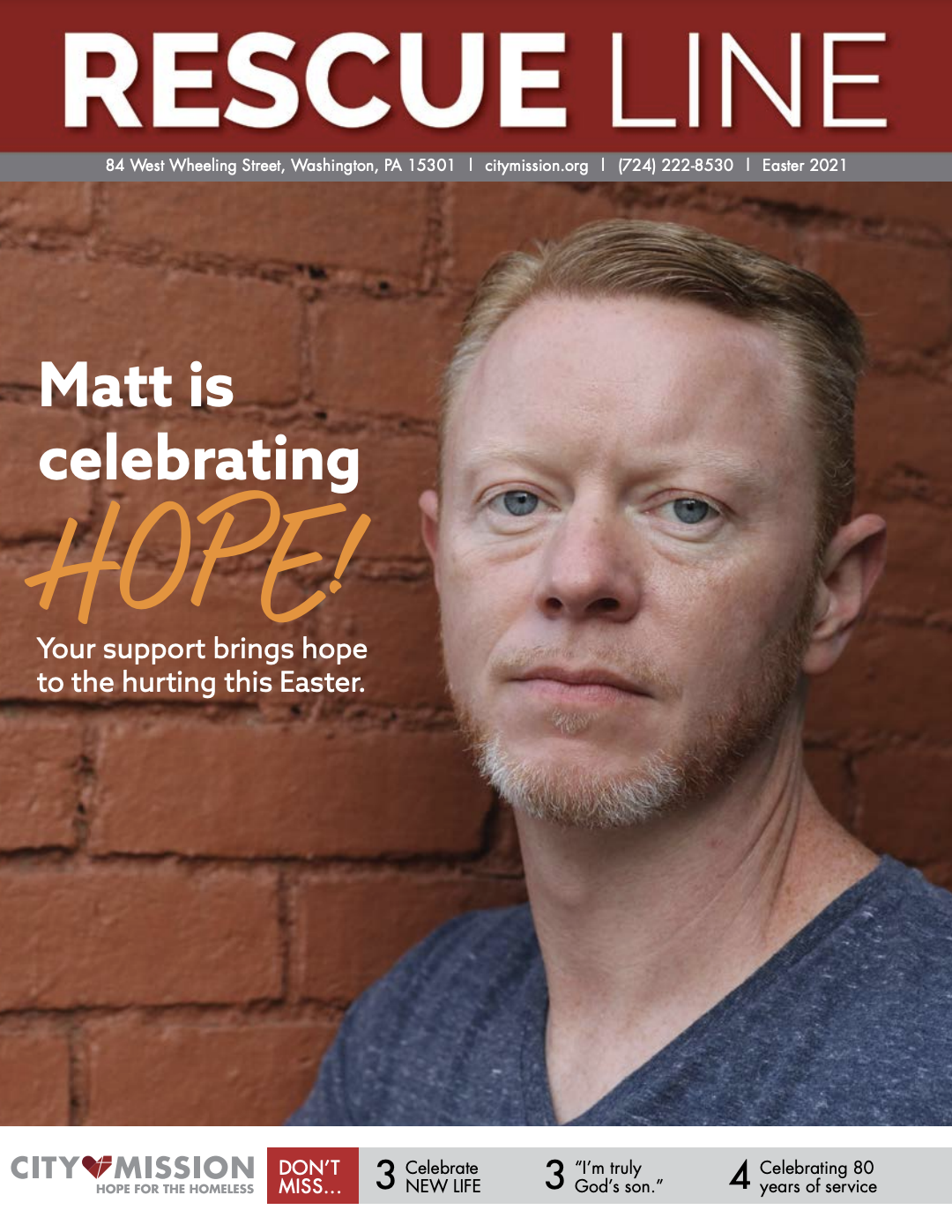 Matt is celebrating hope this Easter